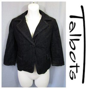 Talbots Denim Blazer Suit Jacket Blue 6P Petite
